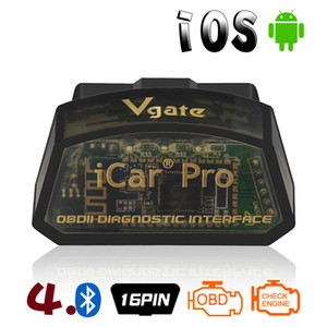 Vgate iCar Pro OBDII Adapter Bluetooth 4.0 OBD2 Car Diagnostic Scanner Tool supports IOS Android protocol SAE J1850 PWM ISO15765-4 CAN