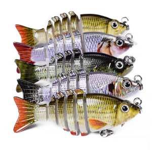 Multi snodato esche da pesca hard esche Lifelike 6 segmenti Swimbait Bass Crankbaits Sudake Walleye Trout Fishing Bait