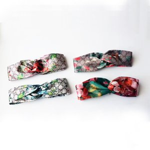 Diseñador Mujer Diadema Banda para el pelo de Seda Floral Suave Cómoda Envuelta Banda para el pelo Anudada con caja original 4 colores Hairband de alta calidad