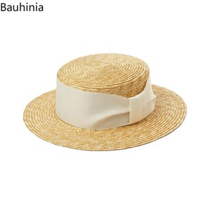 2020 Hot Sale Flat High sun Hat Summer Spring Women's Travel Caps Bandages men Breathable Fashion Bow hand made Traw Hat