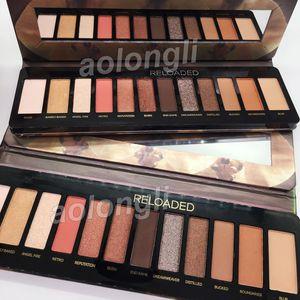 Mais novo Recarregado Sombra de Olho paleta de maquiagem 12 cores Sombra NUDE matte shimmer paleta de Sombra Natural beleza Cosméticos