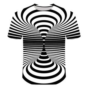 3D Dinamik Görüntü tişört Erkekler Etkisi Tshirts Erkek Yaz Tişörtlü Nefes En Tees Dizzy Tshirts Çift Kostüm yazdır Hareketli