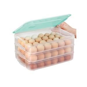 New Kühlschrank Food Storage Box Küchenzubehör Organizer Frische Box Dumplings Gemüse Eihalterung stapelbare Mikrowelle