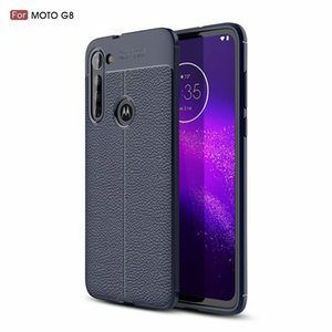Shockproof Litchi Leather Soft Flexiable-TPU für Motorola Moto G8 G8-Plus-G7 G6 E5 Z4 Spielen LG V50 ThinQ V40 V30