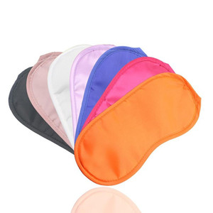 Masque noir Yeux polyester éponge douce 4 couches ombre Nap Couverture Blindfold Blackout sommeil Visière Masque pour dormir Voyage ST967