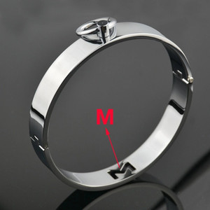 Stainless Steel BDSM Collar Neck Ring Restraint Chastity Metal Collar Restraint Bondage Adult Sex BDSM Toy For Male Female
