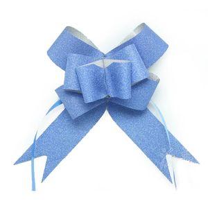10pcs / lot del brillo de tracción arcos de mariposa acontecimientos de la boda decoración de cumpleaños regalos de la Navidad Decoración 3cm * 50m