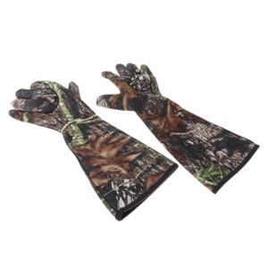 1 쌍의 남녀 카모 절연 방수 방풍 전체 손가락 사냥 낚시 장갑