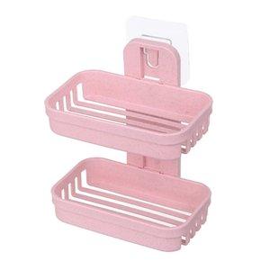 20# Bathroom Shower Soap Box Dish Storage Plate Tray Holder Case Soap Holder Double Layer Washroom Soap Storage Holder Rack