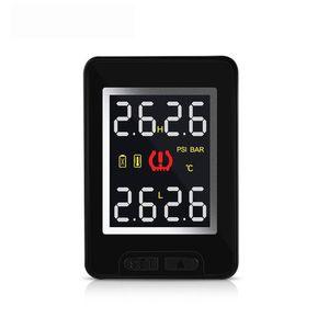 Système de surveillance automatique de pression de pneu de voiture sans fil 100% T912 de la TPMS avec 4 capteurs intégrés LCD moniteur intégré pour Toyota