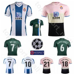 2020 Futbol RCD Espanyol 7 WU LEI Jersey 10 DARDER 22 VARGAS 8 ROSALES 23 GARANERO 11 Ferreyra Iglesias Futbol Gömlek Setleri Üniforma