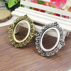 Fit 30x40mm Vintage Oval Blank Setting Bezel Blank Base Cabochon Brooch with Base For DIY Brooch 3pcs lot K05366