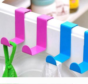 2pcs 1lot Metal Hook Stainless Steel Z Shape Door Desk Cabinet Hanger for Kitchen Clothes Towel Hanger Holder KKA7921