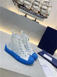 New Fashion Canvas Shoes Top quality B23 HIGH-TOP OBLIQUE Sneaker TISSU TECHNIQUE FLOWERS Sneaker Men Women Canvas shoes sneakers US5-11