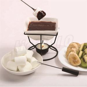 Horno de fusión de Chocolate de cerámica blanco porcelana helado queso olla caliente conjunto hornear DIY que hace la herramienta T9I00206