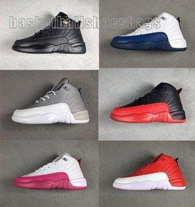 الجملة أحذية كرة السلة الحب طفل 12 الوردي عصير الليمون بوردو انفلونزا رمادي داكن لعبة 12S بنين الفتيات