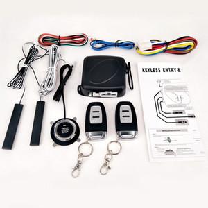 9pcs / Set Car Keyless Entry Motor Iniciar Alarme Botão Sistema Remoto de arranque Central Kit Auto Door Lock assaltante r15 Alarm