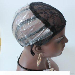 Freier Wig Cap $ 1 PCS-Maschine gemacht Perücke Kappe für die Herstellung von Perücken S M L schwarz auf Lager mit Stretchable Ineinander greifen Wig Cap-elastisches Haare