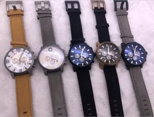 2020 Mens orologi Monte Tempo Walker Sub Dial lavoro cronografo da polso Movimento al quarzo impermeabile Relogio Masculino