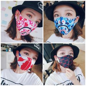 Sun UV Protection Tampa Máscara Facial Earloop Tipo dobrável printting Boca Máscara Mascherine Poeira Filtrition respiradores portáteis 3 28hp E1