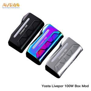 Original Yosta Livepor 100W Box Mod mit 18650 Batterie und buntem 0,96-Zoll-Display