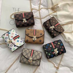 Bolsos de hombro de los niños de moda joven monedero Imprimir Crossbody mini niños del bolso de la cadena de Fanny Pack Casual princesa al aire libre del partido bolsa