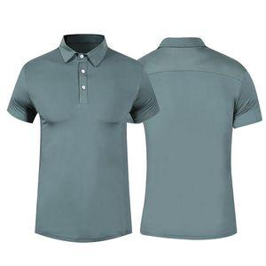 2019 Top Herren Polo Shirt Herren Business Gym Running Schnell trocknend Atmungsaktiv Golf T-Shirts Enges T-Shirt Sport Fitness Tennis Shirts Bluse