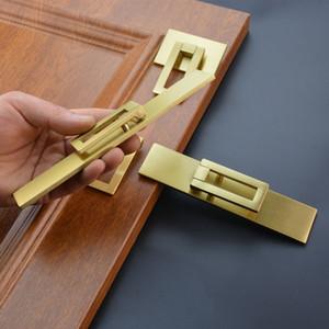 armário de latão ouro puxa gaveta quarto lida com armário de banheiro porta anéis tipo Móveis Praça botões estilo chinês de hardware Móveis