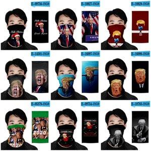 Америка Дональд Трамп Спорт Магия Тюрбан шарф 3D печать Маска для лица Dust Skullcap 2020 Выборы президента США Protect Маска Мужчины Женщина 7oh E19