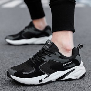 Fashion New Men Mens Breathable Shoes Lace-Up Casual Shoes Brand Men Sneakers Men FLats Fashion sports running trend men's shoes