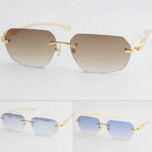 Металлические леопардовые серии популярные новые стильные солнцезащитные очки без огранки мужчины женщины с оформлением проволоки кадр унисекс очки для лета открытый