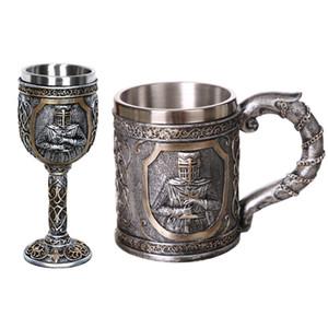 1Pcs 304 Edelstahl-Schädel Viking-Schädel-Bierkrüge Geschenk für Männer Father Day Geschenke Halloween Bar Hauptdekoration