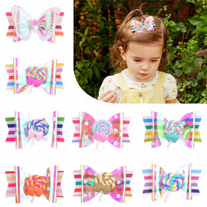 2020 Clips de verano Lollipop del arco iris lindo niños horquilla para el cabello accesorios para chicas niños ornamento del pelo Barrettes Hairclip tocado D62802