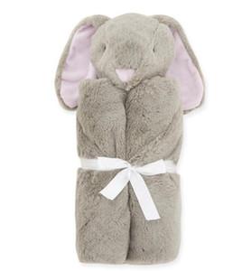 INS Bebek Bebek Kristal Kadife Swaddles sarar Battaniyeler Çocuk Yatak Newbor Fil Tavşan Koyun Ayı Tasarım Kundaklama 76x76cm / 400g