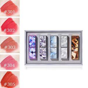 HOLD 라이브 5PCS 매트 립스틱 붉은 입술 메이크업 립 스틱 5 선물 긴 방수 U7R5을 착용하는 설정을 위해 생일 색상을 지속