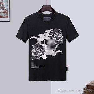hombre del diseñador de camisetas para hombre de la camiseta del cráneo de alta calidad de la impresión t shirt camiseta vestidos boda de la plataforma yy48 Phillip Phillip llano llano PP