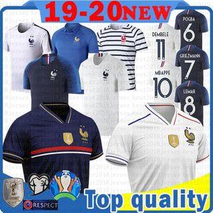 MEN 7 Griezmann 10 Mbappé 6 Pogba fútbol Jersey LEMAR KANTE MARTIAL GIRQVD MENDY camiseta de fútbol Barane Sidibe TOLISSO Maillots de foot