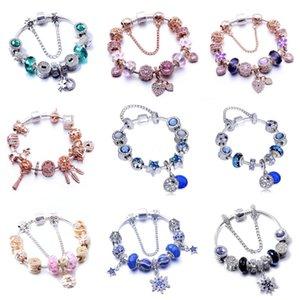 Al por mayor-Nueva moda europea encanta las pulseras para las mujeres 925 de la aleación cadena de la serpiente de los brazaletes joyería al Childrens día como un regalo # 728