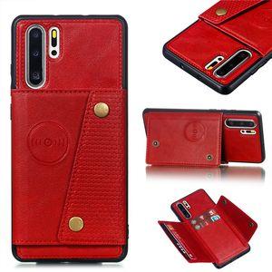 Fundas Hawei P30 titolari Pro Card cassa del raccoglitore per Huawei P30 Pro Mate 20 P20 Lite cuoio della carta di tasca della copertura posteriore della P30lite Coque