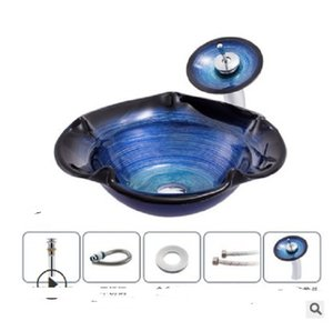 2020 hot sale Bathroom Sinks Bathroom manufacturers directly sell modern balcony wash basin, Nordic tempered glass stage art wash basin WY01