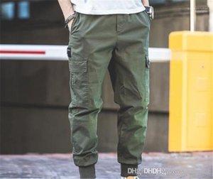 Poche multi travail Pantalon taille élastique Pantalon Homme Vêtements Mode Hommes Casual Pantalons Cargo pleine Corsaires