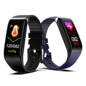 New 1,14-Zoll-Bildschirm Smart Motion Armband-Uhr-Mann-Frauen-Puls-Monitor-Digitaluhr Bluetooth Blutdruckmessung