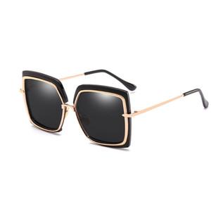 Wholesale-MLLSE Fashion Oversize Square Sonnenbrillen für Frauen Markendesigner Vintage Retro Big Frame Weibliche Sonnenbrille Damen Sonnenbrille