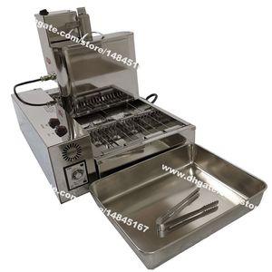 Livraison gratuite 4pcs / Row Heavy Duty en acier inoxydable 110v 220v électrique automatisé Mini beignet machine Maker Fryer