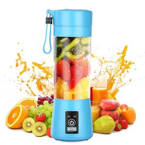 6 Blade Portable Blender 380ML Kitchen MINI Juicer Electric Bottle USB Charging Blender Bottle Mixer Juice Food Smoothie Maker