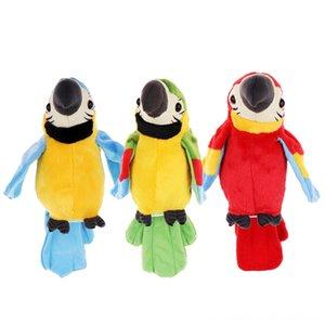 Çocuklar Çocuklar için Peluş Konuşan Papağan tekrarlayın Ne Say Elektronik Hayvan Pet Buddy Oyuncak Sırt Doldurulmuş Hayvanlar Peluş Hediye