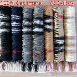 New 2020 Fashion Winter Unisex 100% Cashmere Scarf For Men and Women Oversized Classic Check Shawls and Scarves Scarfs