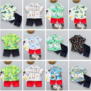 Enfants Cartoon Vêtements Garcons filles Hauts T-Shirt + Shorts 2 pièces Costume T-shirt mignon Tenues d'été vêtements pour enfants Sets 80-130cm 25 Couleurs