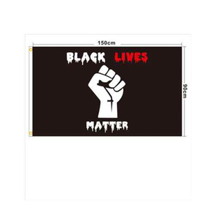 90x150cm BLACK LIVES MATTER Banners Black Protest Banner I Can't Breathe Flag American Parade Flags ZZA2241 200Pcs