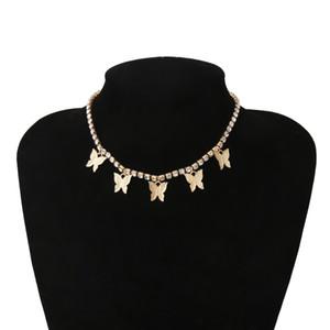 Papillon multi collier de diamants Sautoirs tennis de femmes de bijoux de mode colliers chaînes de diamant colliers volonté et cadeaux de sable